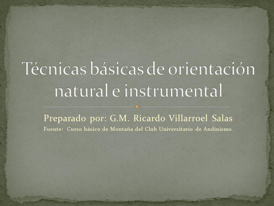 Técnicas básicas de orientación natural e instrumental