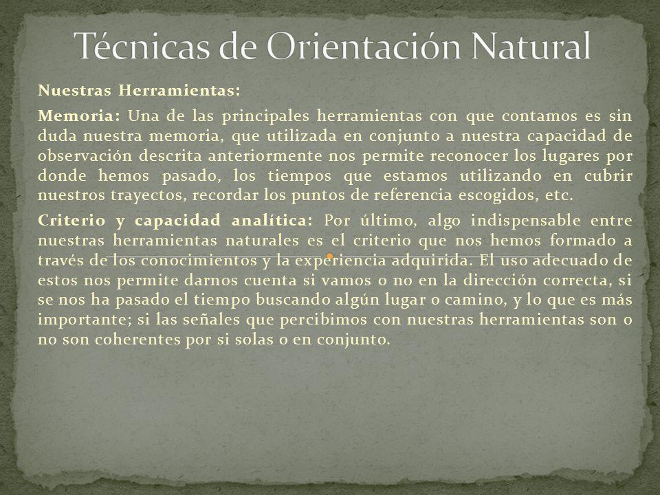 Técnicas de Orientación Natural