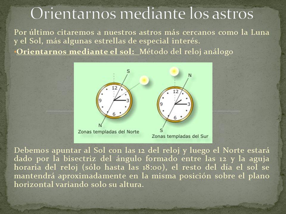 Orientarnos mediante los astros