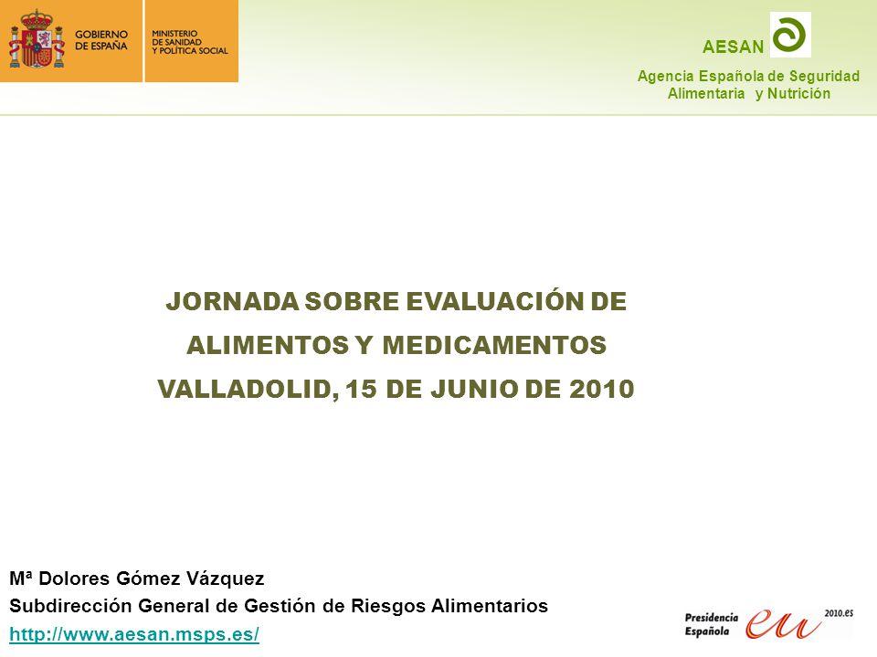 JORNADA SOBRE EVALUACIÓN DE ALIMENTOS Y MEDICAMENTOS