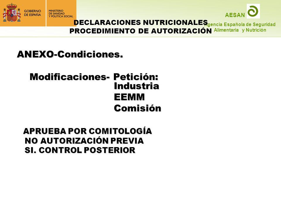 DECLARACIONES NUTRICIONALES PROCEDIMIENTO DE AUTORIZACIÓN