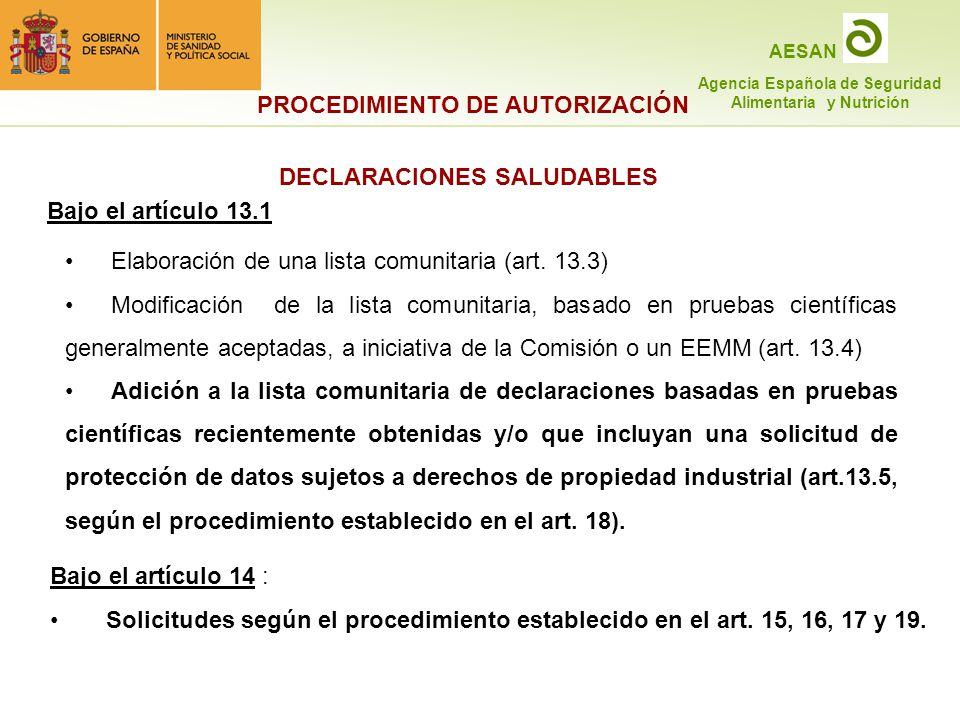 DECLARACIONES SALUDABLES