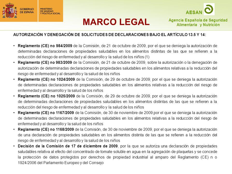 MARCO LEGAL AUTORIZACIÓN Y DENEGACIÓN DE SOLICITUDES DE DECLARACIONES BAJO EL ARTÍCULO 13.5 Y 14: