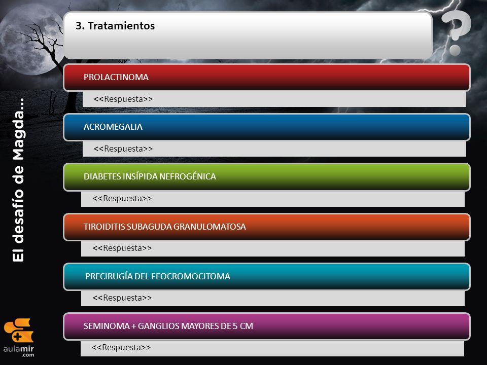 3. Tratamientos PROLACTINOMA <<Respuesta>> ACROMEGALIA