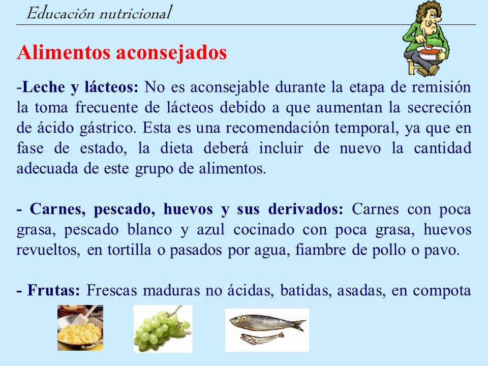 Alimentos aconsejados