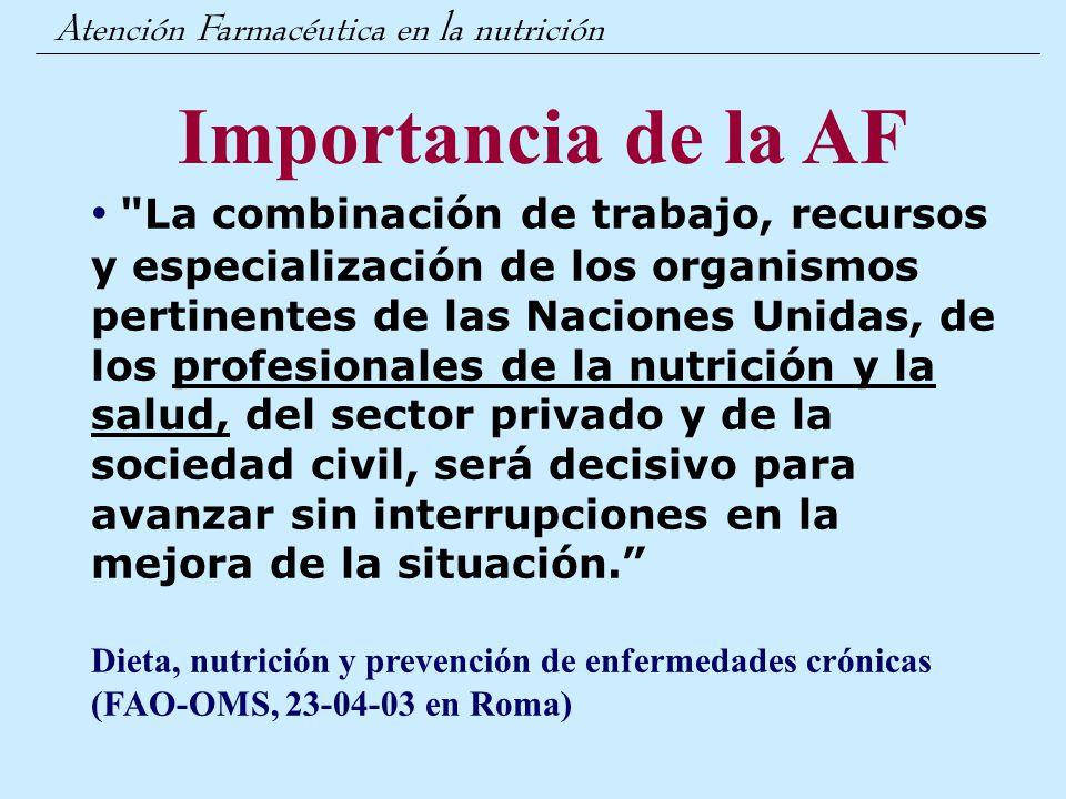 Atención Farmacéutica en la nutrición
