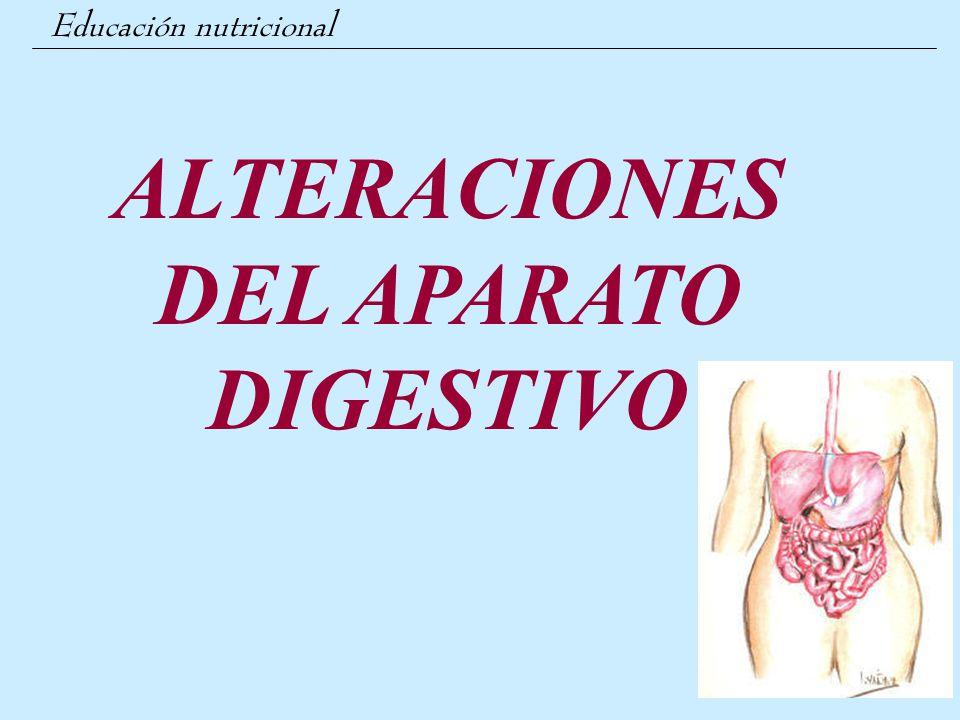 ALTERACIONES DEL APARATO DIGESTIVO