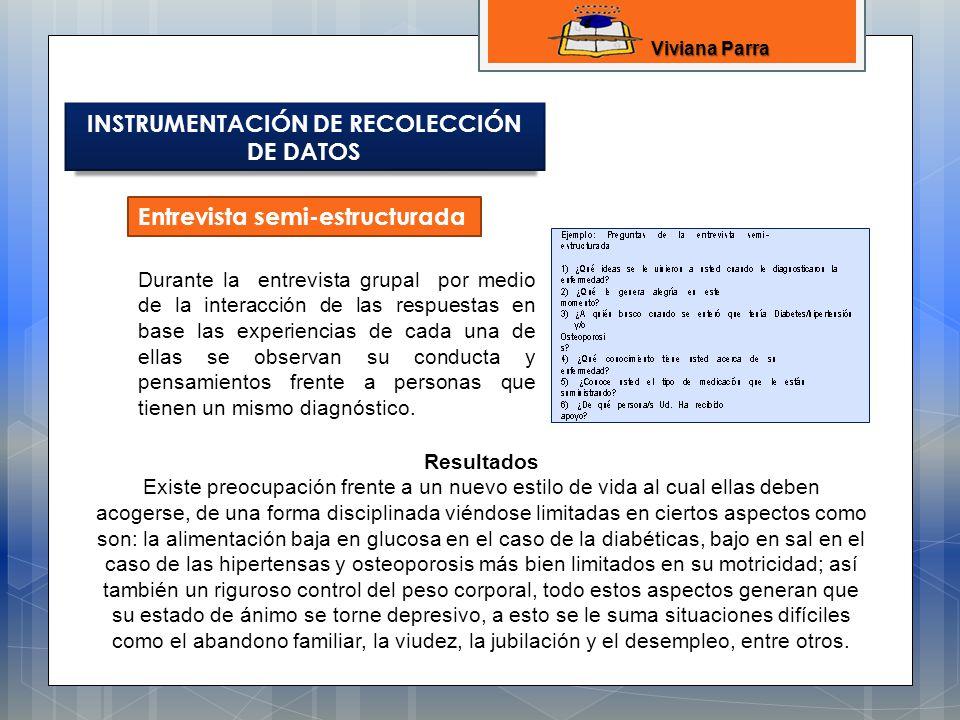 INSTRUMENTACIÓN DE RECOLECCIÓN DE DATOS