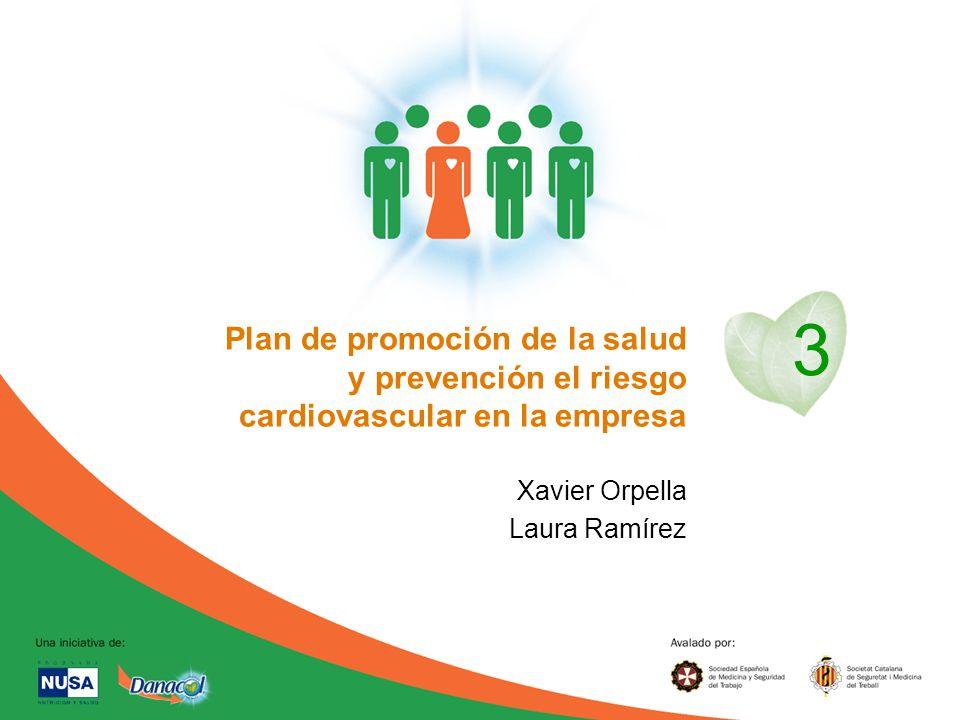 3 Plan de promoción de la salud y prevención el riesgo cardiovascular en la empresa. Xavier Orpella.