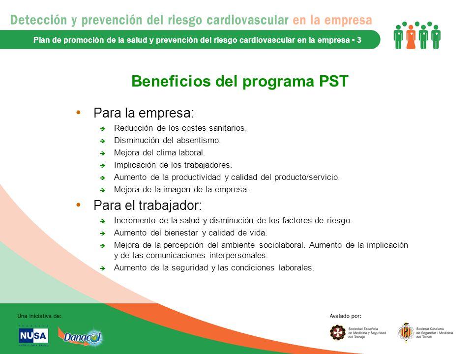Beneficios del programa PST