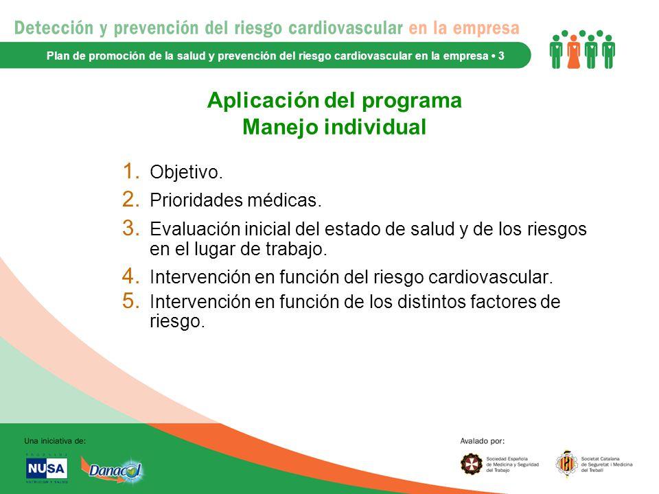 Aplicación del programa Manejo individual