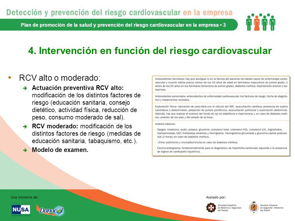 4. Intervención en función del riesgo cardiovascular