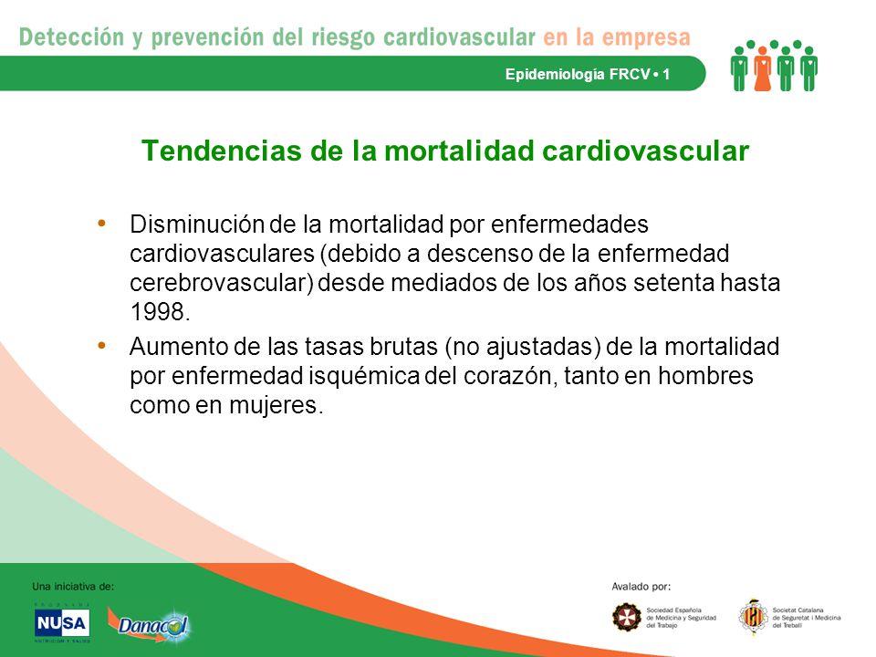 Tendencias de la mortalidad cardiovascular