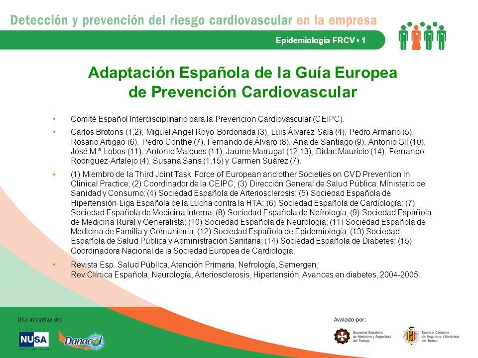 Adaptación Española de la Guía Europea de Prevención Cardiovascular