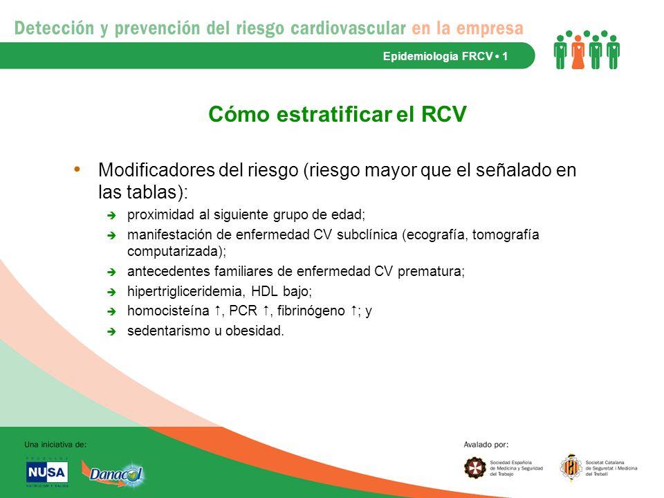 Cómo estratificar el RCV