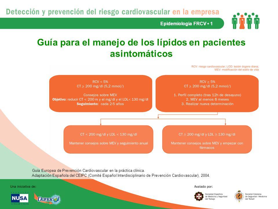 Guía para el manejo de los lípidos en pacientes asintomáticos