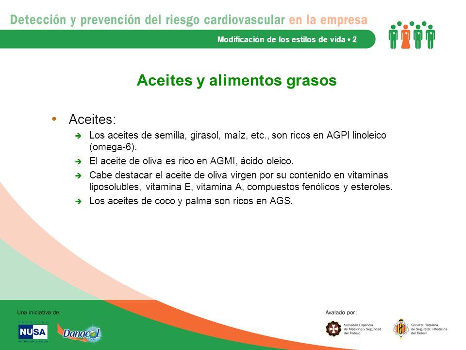Aceites y alimentos grasos