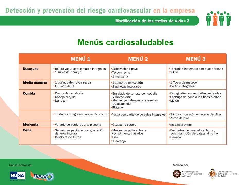 Menús cardiosaludables