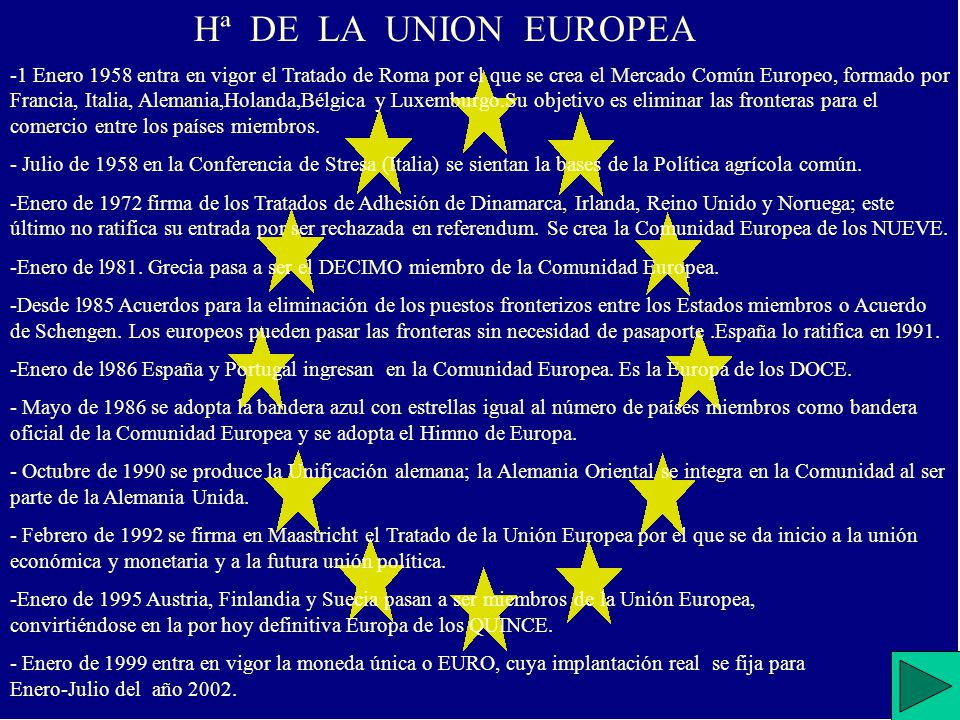 Hª DE LA UNION EUROPEA