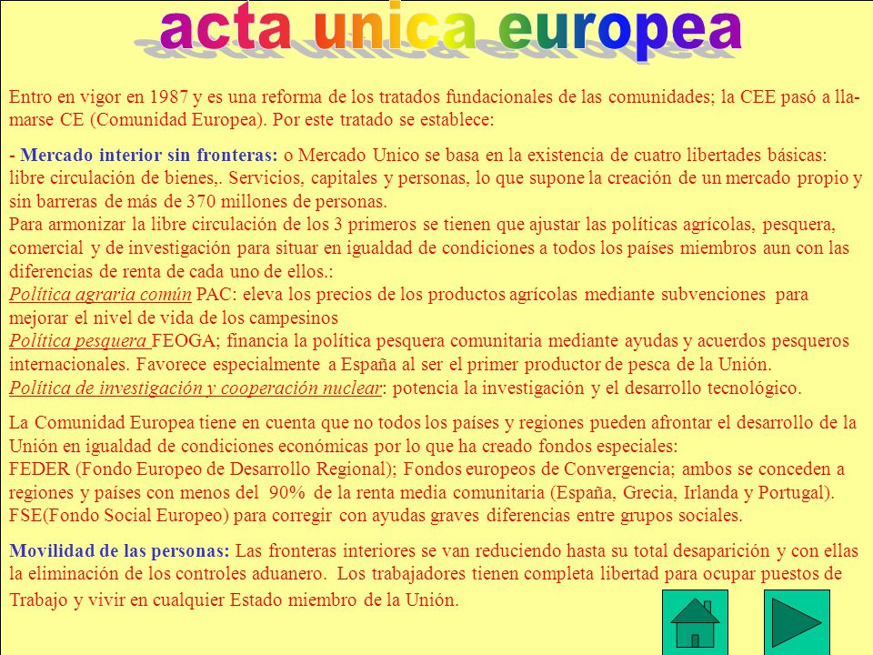 acta unica europea