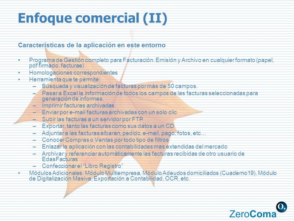 Enfoque comercial (II)