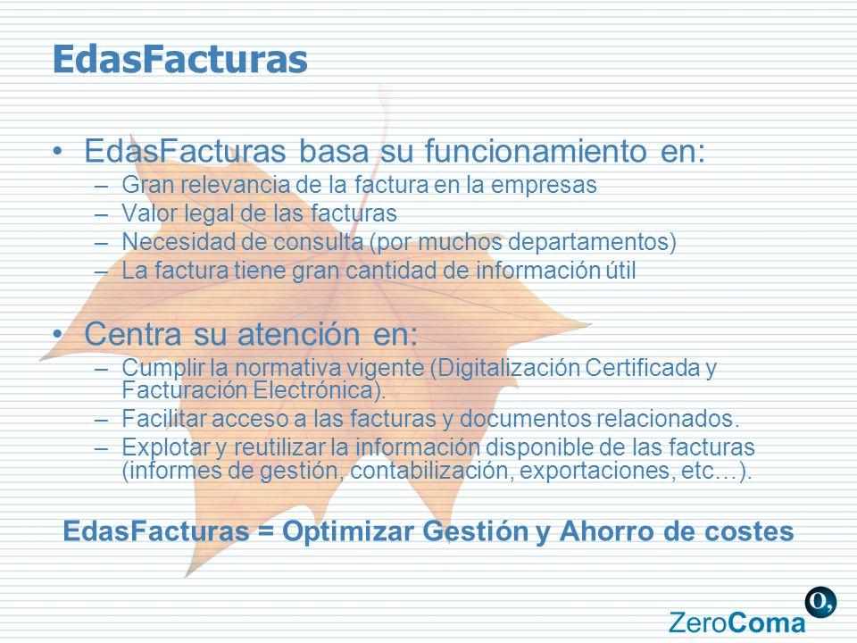 EdasFacturas = Optimizar Gestión y Ahorro de costes