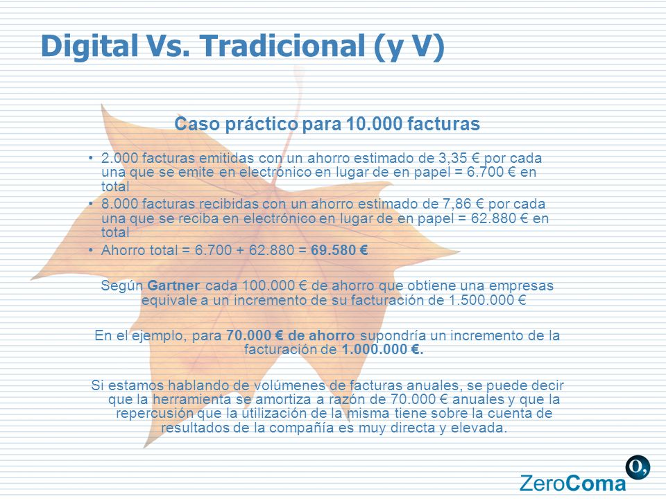 Digital Vs. Tradicional (y V)