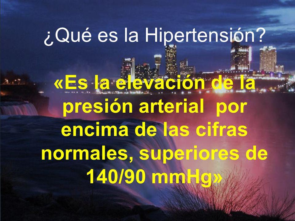 ¿Qué es la Hipertensión