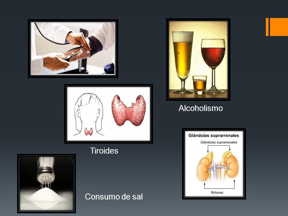 Alcoholismo Tiroides Consumo de sal