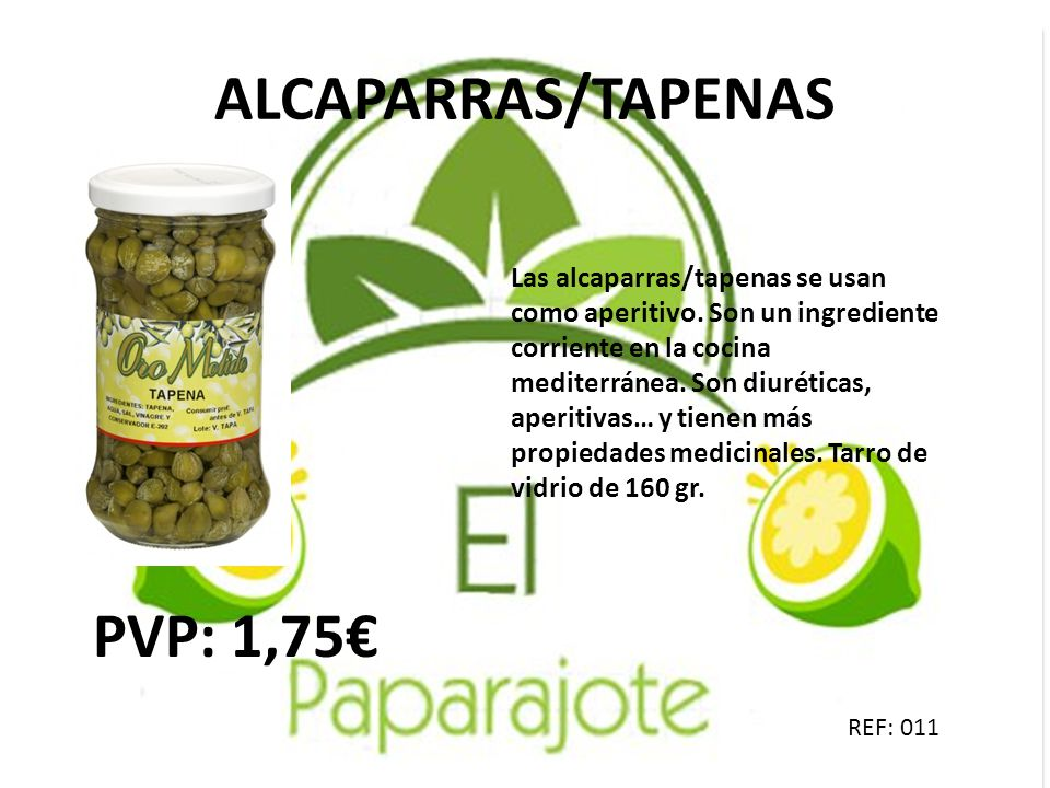 ALCAPARRAS/TAPENAS PVP: 1,75€