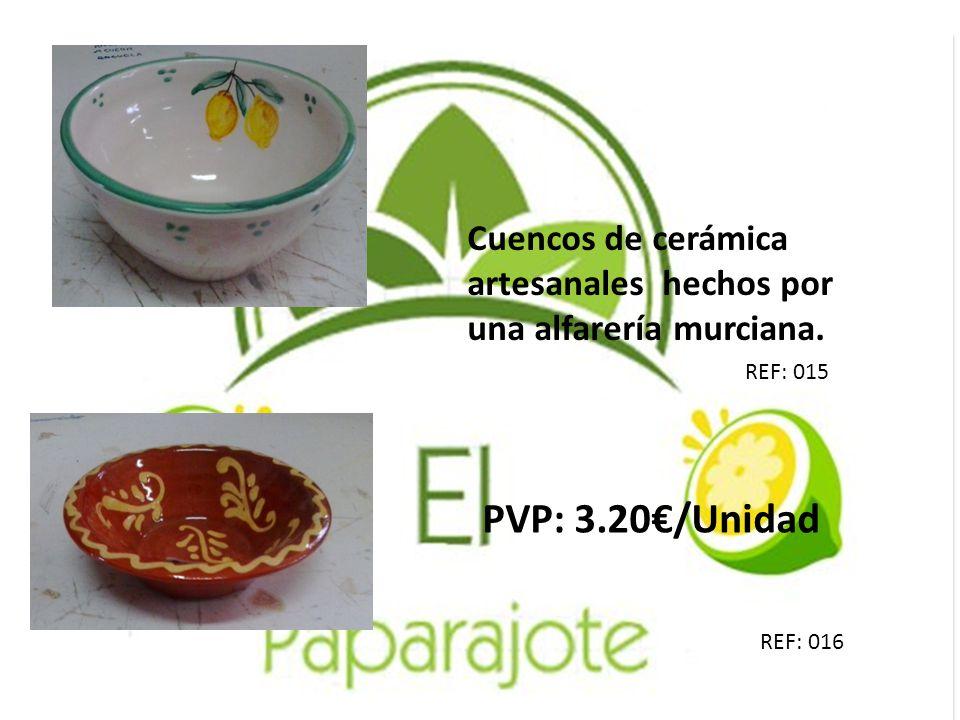 Cuencos de cerámica artesanales hechos por una alfarería murciana.