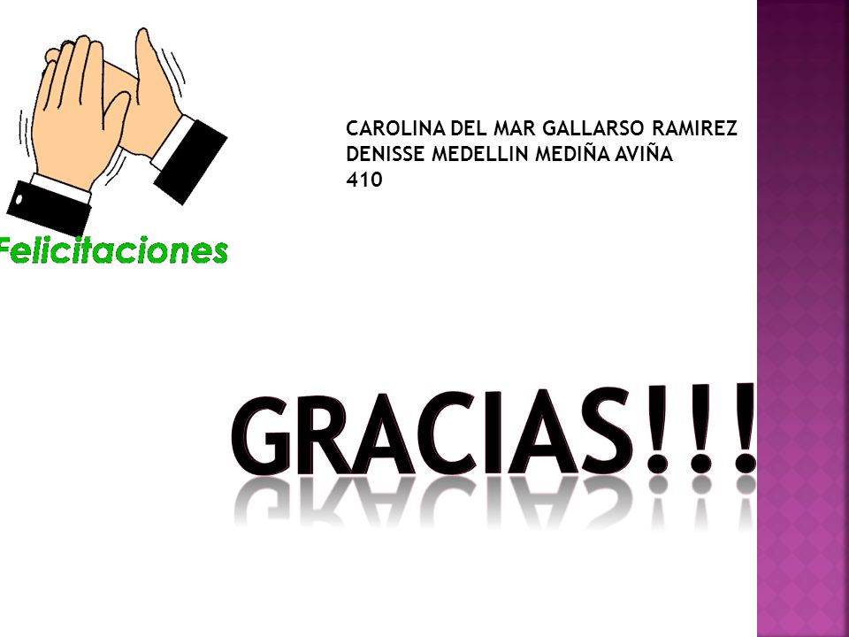 Gracias!!! CAROLINA DEL MAR GALLARSO RAMIREZ