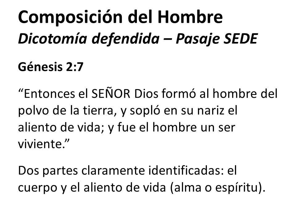 Composición del Hombre Dicotomía defendida – Pasaje SEDE