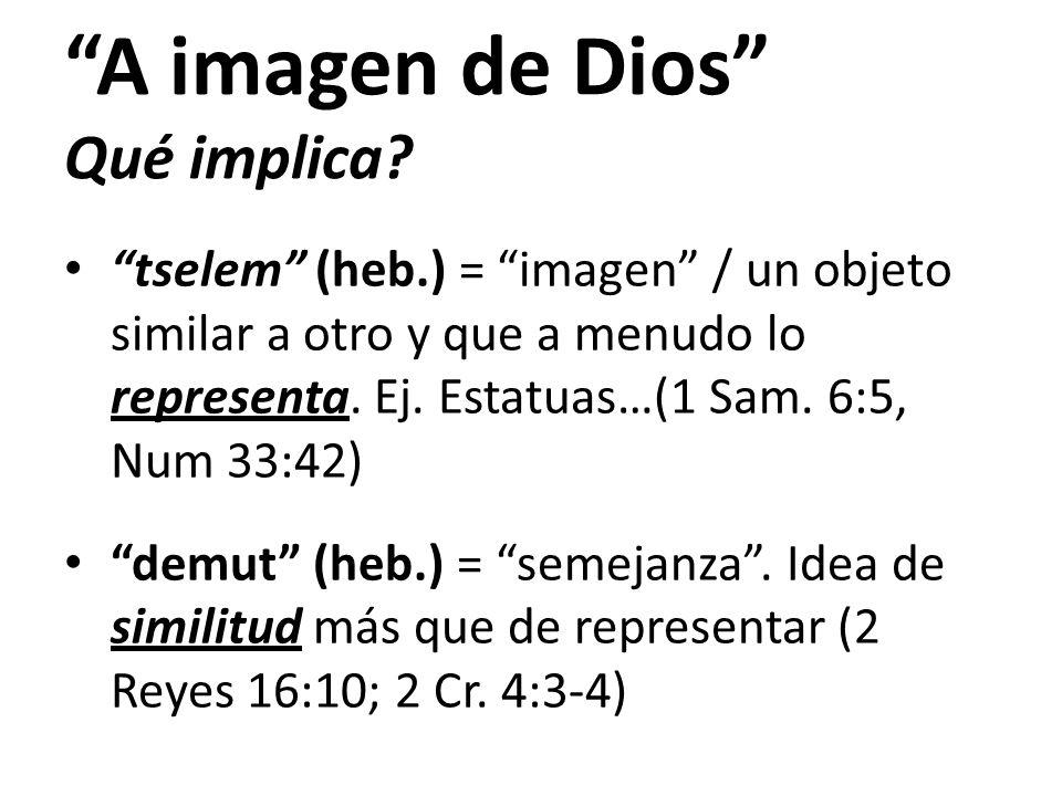 A imagen de Dios Qué implica