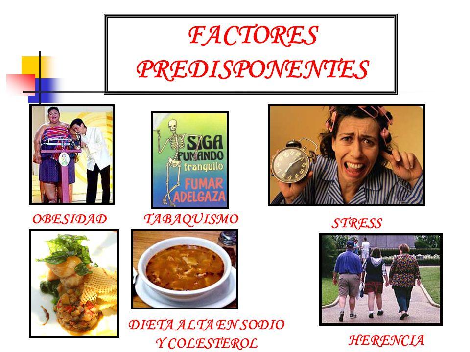 FACTORES PREDISPONENTES DIETA ALTA EN SODIO Y COLESTEROL