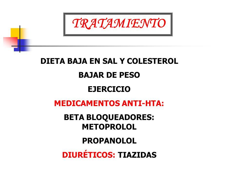 TRATAMIENTO DIETA BAJA EN SAL Y COLESTEROL BAJAR DE PESO EJERCICIO