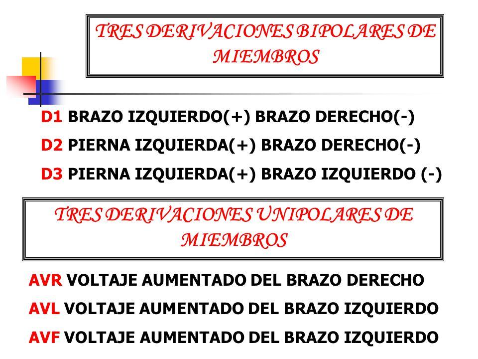 TRES DERIVACIONES BIPOLARES DE MIEMBROS
