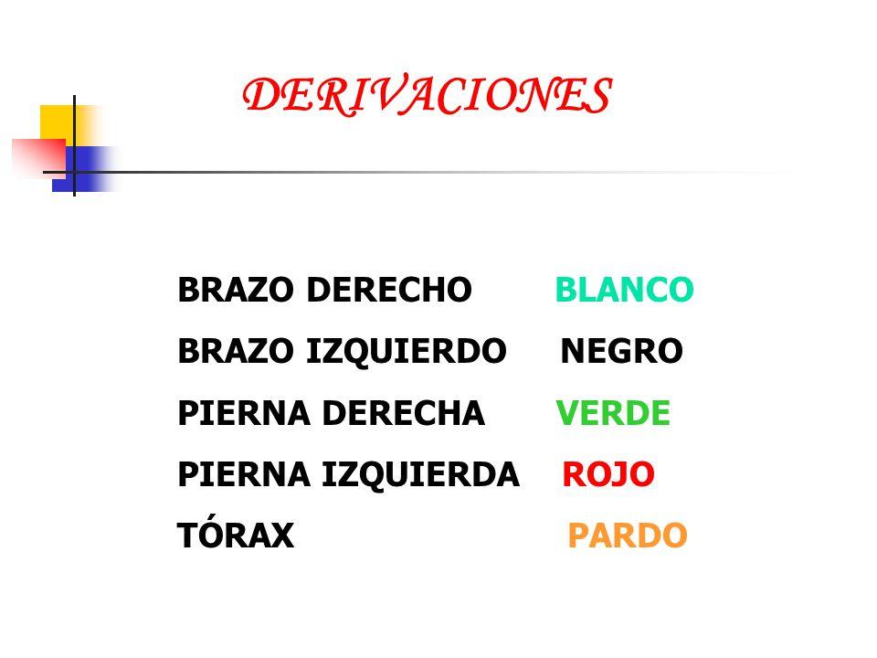 DERIVACIONES BRAZO DERECHO BLANCO BRAZO IZQUIERDO NEGRO