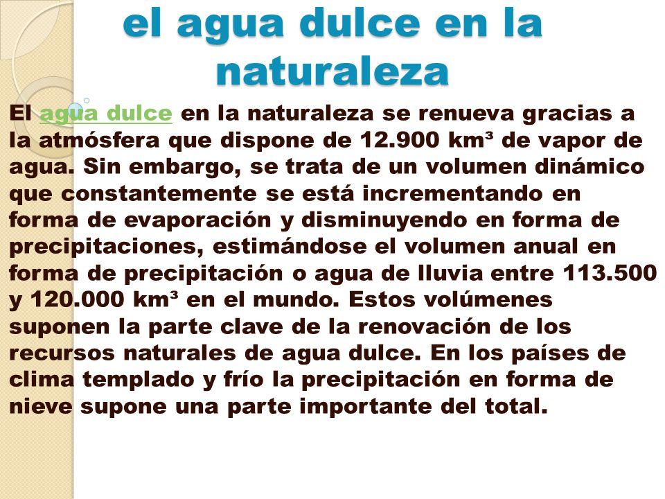 el agua dulce en la naturaleza