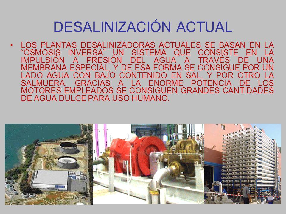 DESALINIZACIÓN ACTUAL