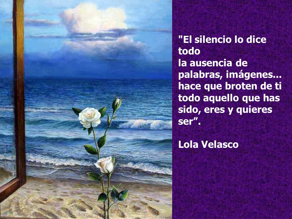 El silencio lo dice todo la ausencia de palabras, imágenes