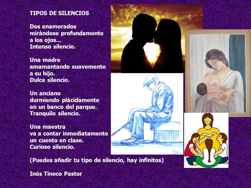 TIPOS DE SILENCIOS Dos enamorados mirándose profundamente a los ojos