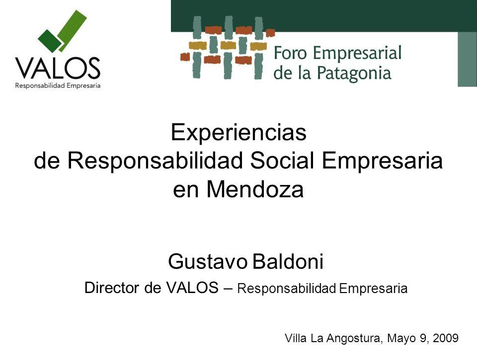 Experiencias de Responsabilidad Social Empresaria en Mendoza