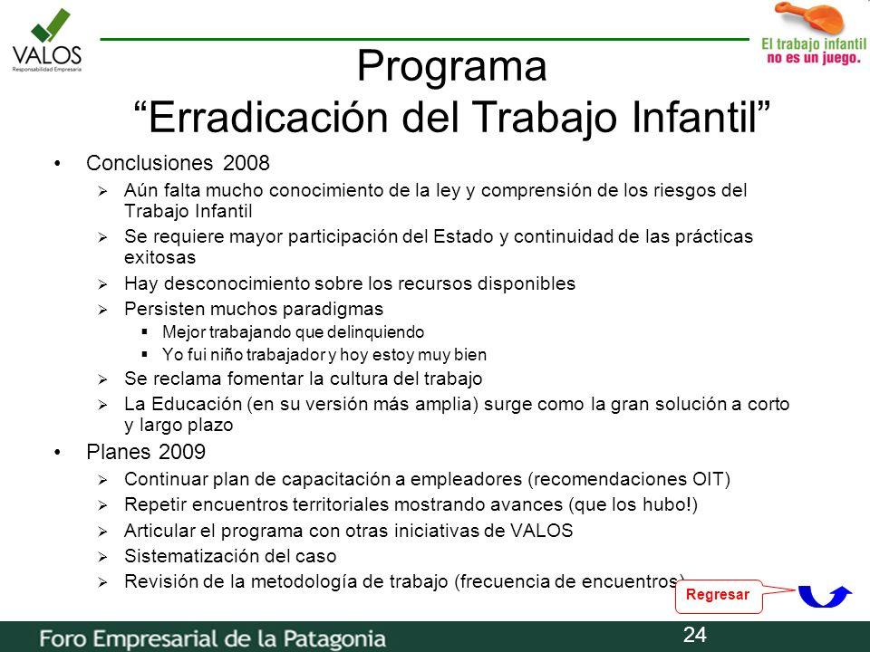 Programa Erradicación del Trabajo Infantil