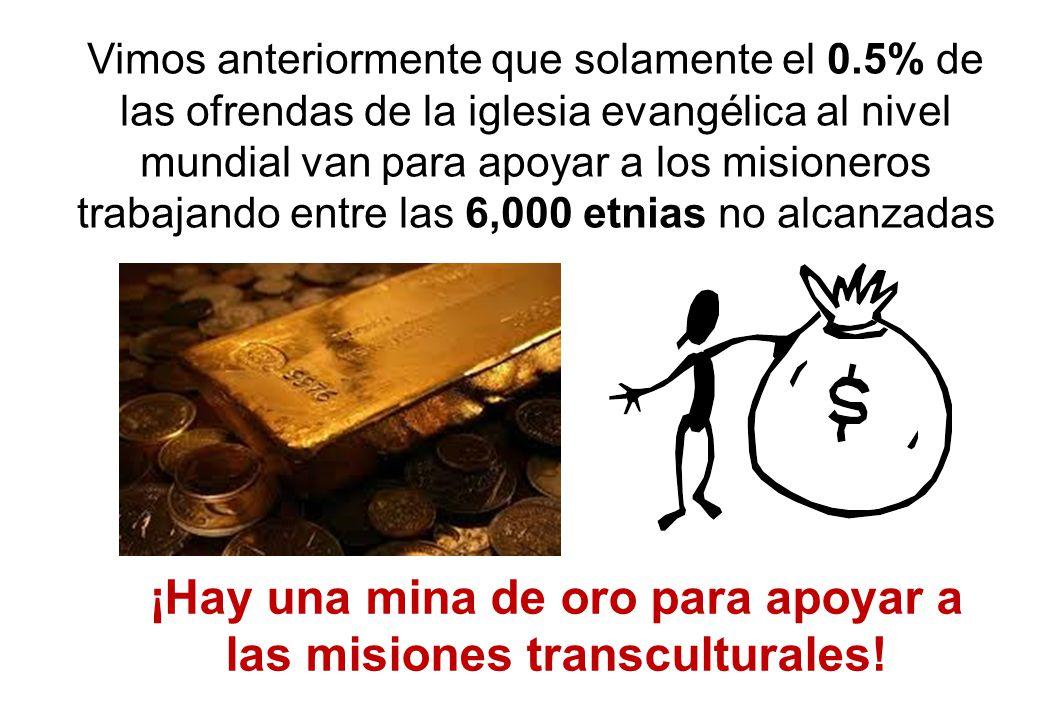 ¡Hay una mina de oro para apoyar a las misiones transculturales!