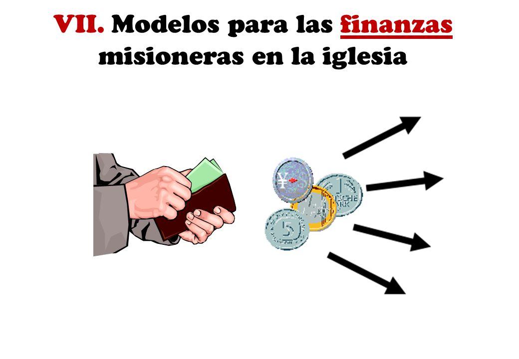 VII. Modelos para las finanzas misioneras en la iglesia