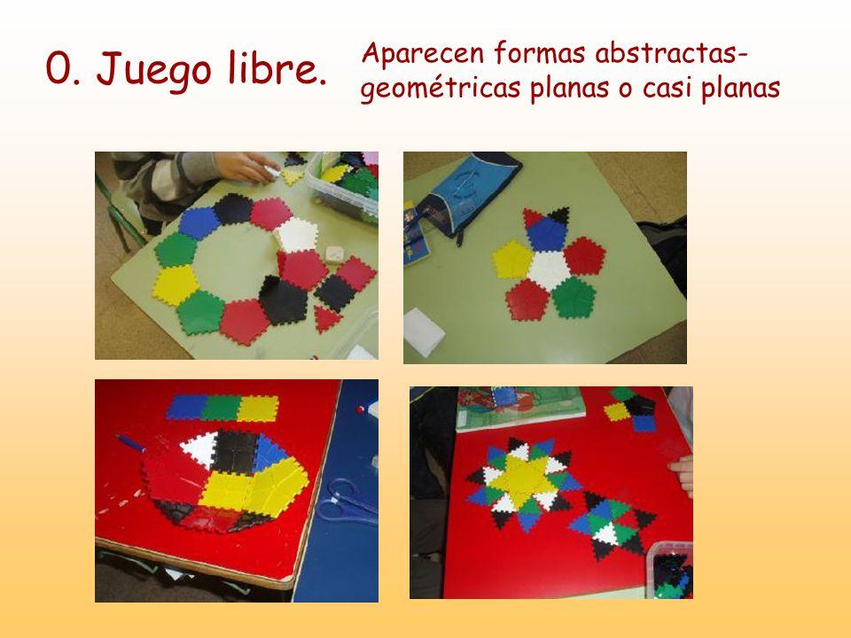 Aparecen formas abstractas- geométricas planas o casi planas