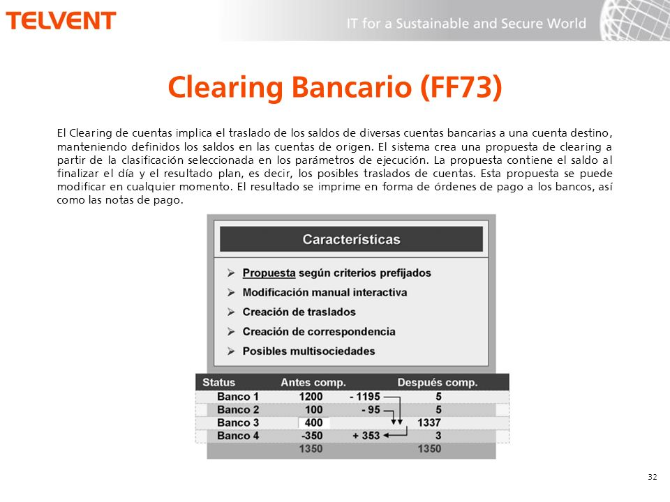 Clearing Bancario (FF73)
