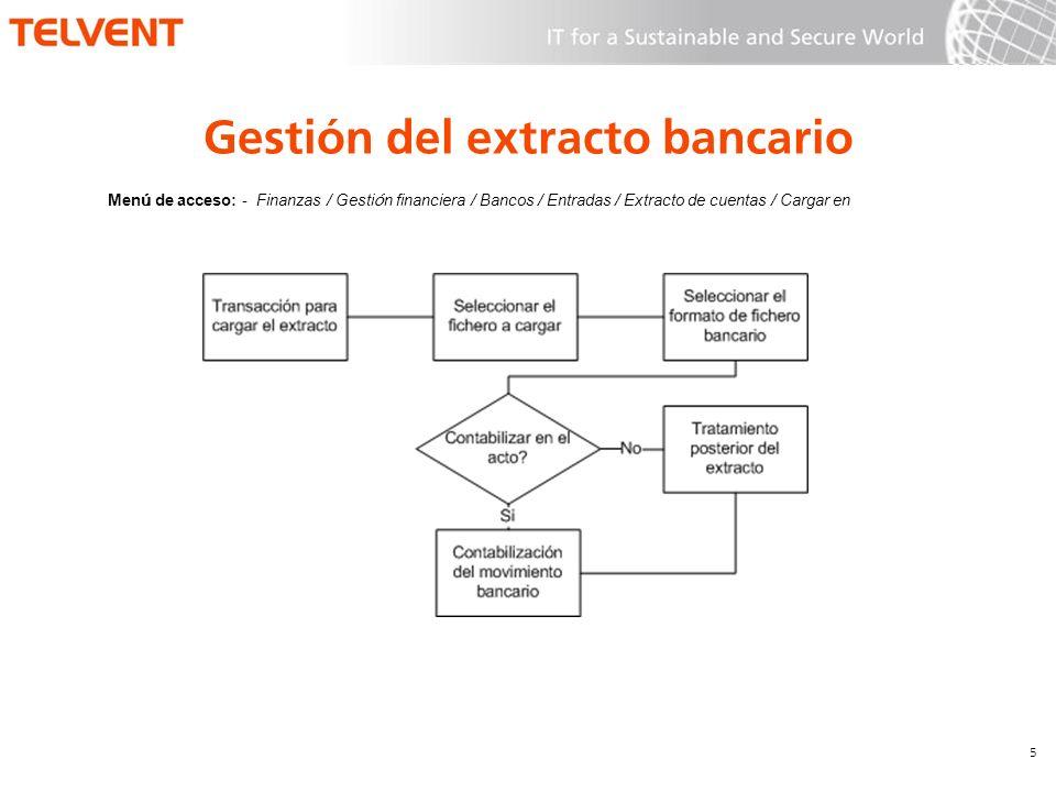 Gestión del extracto bancario