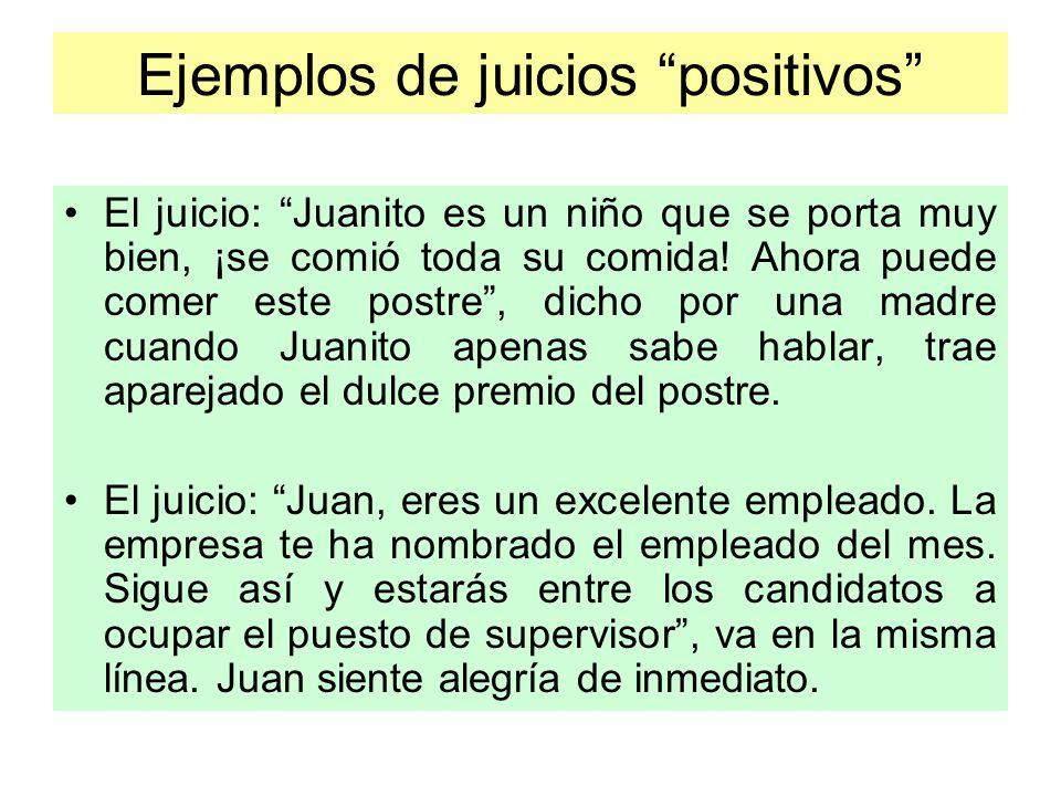 Ejemplos de juicios positivos